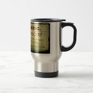 Distressed Arsenic Label Travel Mug