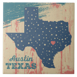 Distressed Art Texas Tile Trivet - Austin