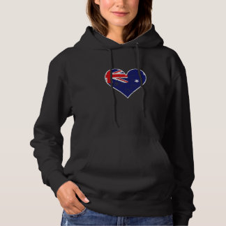 Distressed Australian Flag Heart Hoodie