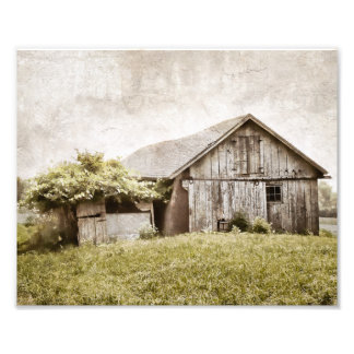 Distressed Barn Print Photographic Print