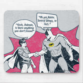 Distressed Batman And Robin Handshake Mouse Pad