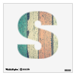 Distressed Beach Wood Pastel Letter Decal