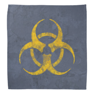 Distressed Biohazard Symbol Kerchief