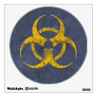 Distressed Biohazard Symbol Wall Decal