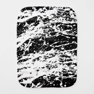Distressed Black and White Distressed Paint Burp Cloth