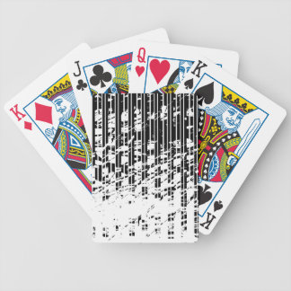 Distressed Black and White Pinstripe Poker Deck