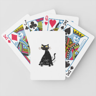 Distressed Black Fat Cat Bicycle Playing Cards
