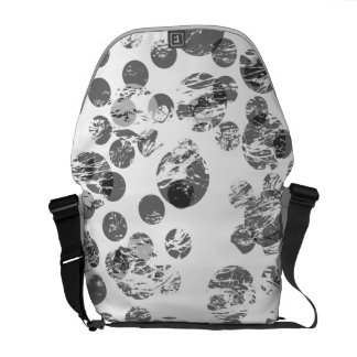 Distressed Black Spot Pattern Courier Bags