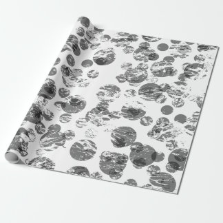 Distressed Black Spots Wrapping Paper