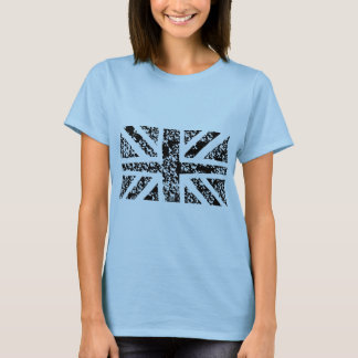 Distressed Black Union jack T-Shirt