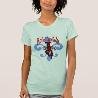 Distressed Blue Fleur De Lis, Boiled Crawfish T-Shirt