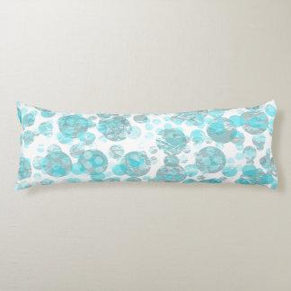 Distressed blue polka dot pattern body pillow