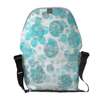 Distressed blue polka dot pattern commuter bags