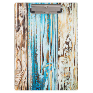 distressed blue woodgrain texture clipboard