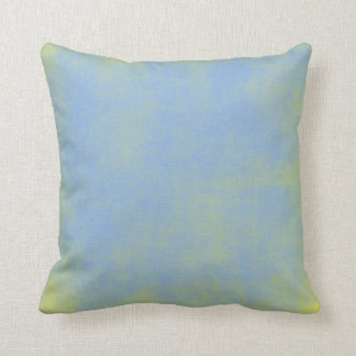 Distressed Blue Yellow Pillow