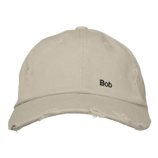 Distressed branded cap by Bob Baseball Cap