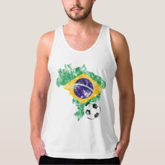 Distressed Brazil Soccer Tank Top