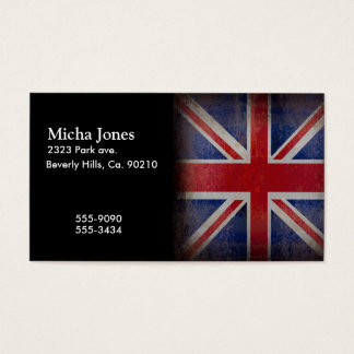 Distressed British Flag Business Card