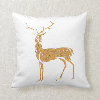 Distressed Brown Buck Throw Pillow