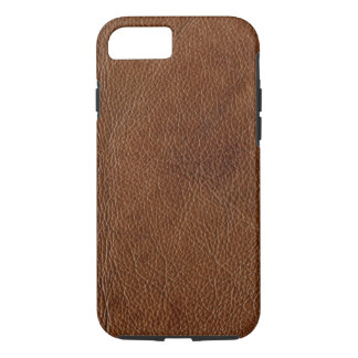 Distressed Brown Leather Look Printed Image iPhone 8/7 Case