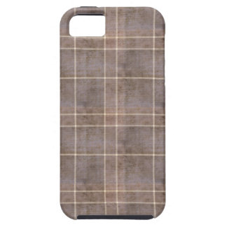 Distressed Brown Plaid Case For The iPhone 5