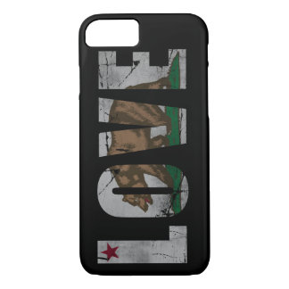 Distressed California Love Flag Bear iPhone 7 Case
