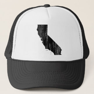 Distressed California State Outline Trucker Hat