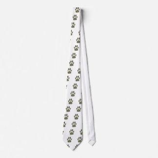 Distressed Camo Dog Paw Print Tie