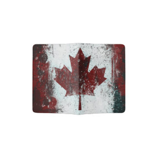 Distressed Canada Flag Grunge Passport Holder
