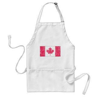 Distressed Canadian Flag Standard Apron