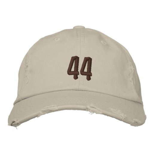 Distressed Chino Embroidered Baseball Cap