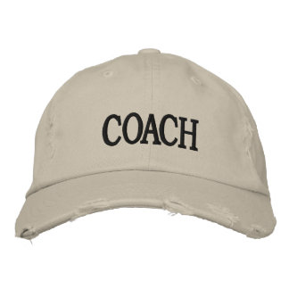 Distressed Chino Twill Coach Cap