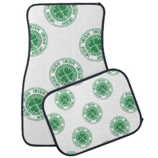 distressed clover irish stamp seal auto mat