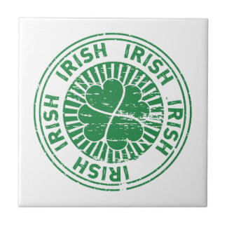 distressed clover irish stamp seal ceramic tiles