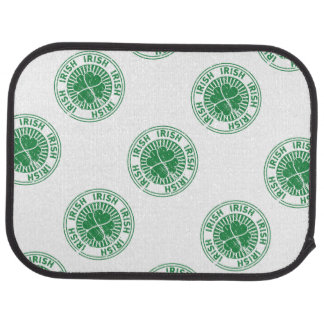distressed clover irish stamp seal floor mat