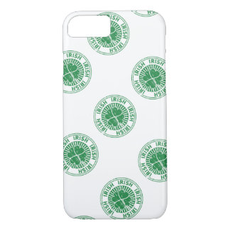 distressed clover irish stamp seal iPhone 7 case