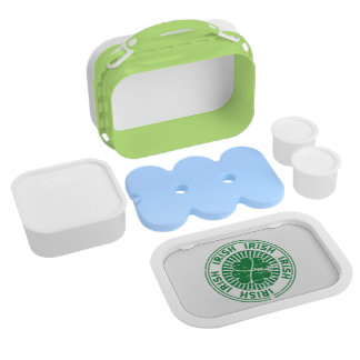 distressed clover irish stamp seal lunch box