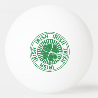 distressed clover irish stamp seal Ping-Pong ball