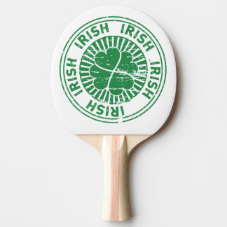 distressed clover irish stamp seal Ping-Pong paddle