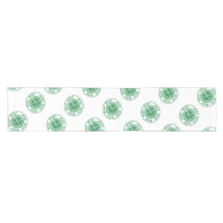 distressed clover irish stamp seal short table runner