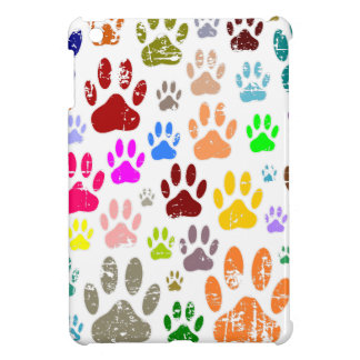Distressed Colorful Dow Paw Prints iPad Mini Cases