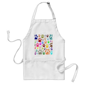 Distressed Colorful Dow Paw Prints Standard Apron