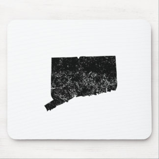 Distressed Connecticut Silhouette Mouse Pad