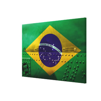 Distressed Country Flags | Brazil Canvas Print