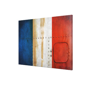 Distressed Country Flags | France Canvas Print