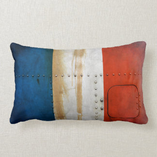 Distressed Country Flags | France Lumbar Pillow