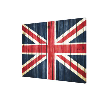 Distressed Country Flags | Great Britain Canvas Print