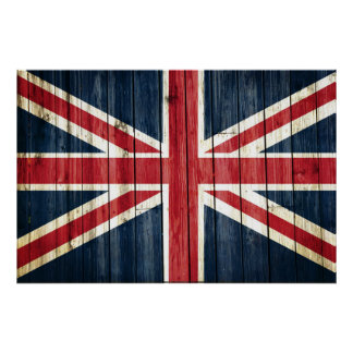 Distressed Country Flags | Great Britain Poster