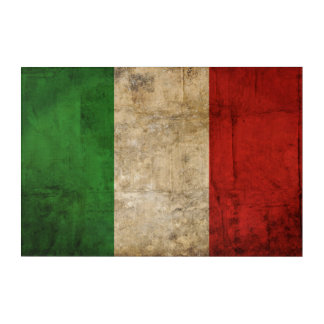Distressed Country Flags | Italy Acrylic Wall Art