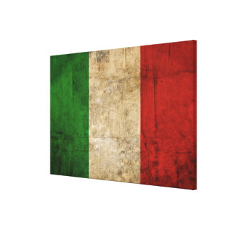 Distressed Country Flags | Italy Canvas Print